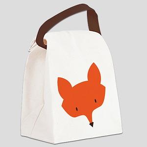 Fox Head Canvas Lunch Bag