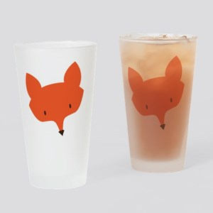 Fox Head Drinking Glass
