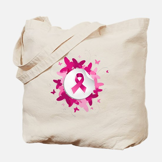 Think Pink. Dream Pink. Breast Cancer Awa Tote Bag