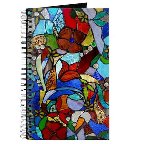 Alicias Garden Window Stained Glass Panel Journal