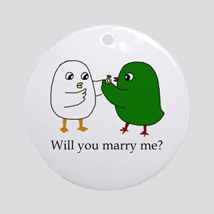 Will You Marry Me? Ornament (round)