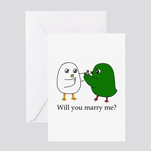Will you marry me? Greeting Cards