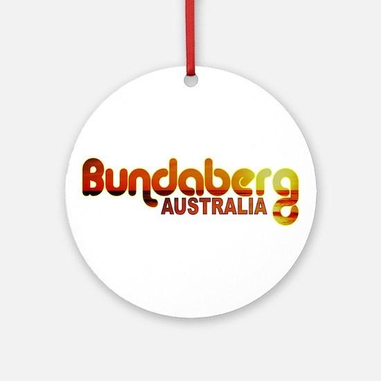 Bundaberg, Australia Ornament (Round)