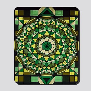 Stained Glass Geo Labyrinth Mousepad