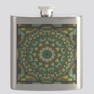Stained Glass Geo Labyrinth Flask