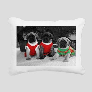 Puppy Trio Rectangular Canvas Pillow