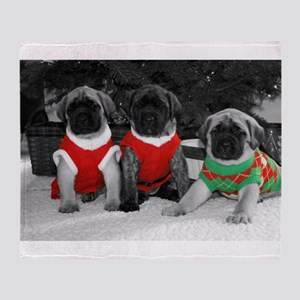 Puppy Trio Throw Blanket