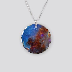 Space Necklace Circle Charm