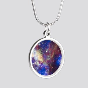Space Silver Round Necklace