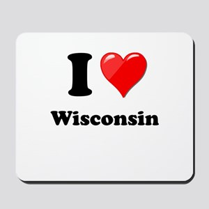 I Heart Love Wisconsin Mousepad