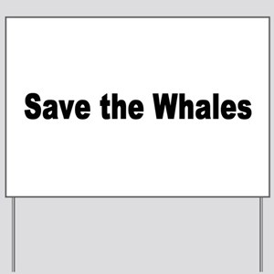 whale2 Yard Sign
