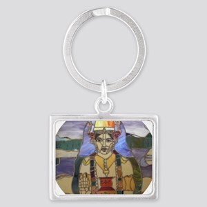 Stained Glass Dhanvantari Landscape Keychain