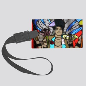 stained glass Keshava Large Luggage Tag