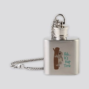 Shh... Its Nap Time Flask Necklace