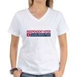 Independent Voter Red Blue Women's V-Neck T-Shirt