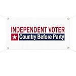 Independent Voter Red Blue Banner