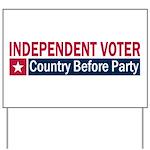 Independent Voter Red Blue Yard Sign