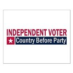 Independent Voter Red Blue Small Poster