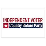 Independent Voter Red Blue Large Poster