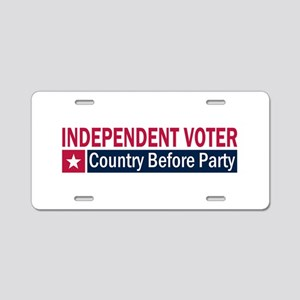 Independent Voter Red Blue Aluminum License Plate