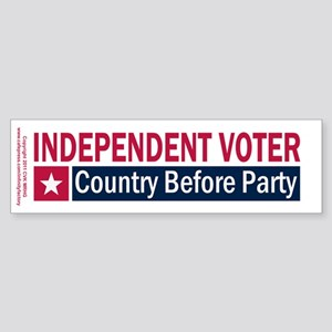 Independent Voter Red Blue Sticker (Bumper)
