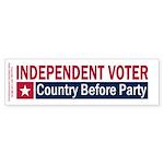 Independent Voter Red Blue Sticker (Bumper 10 pk)
