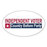 Independent Voter Red Blue Sticker (Oval)