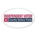 Independent Voter Red Blue Sticker (Oval 50 pk)