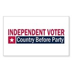 Independent Voter Red Blue Sticker (Rectangle 10 p