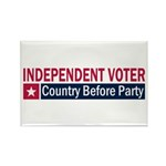 Independent Voter Red Blue Rectangle Magnet (10 pa