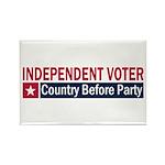 Independent Voter Red Blue Rectangle Magnet (100 p