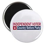 Independent Voter Red Blue Magnet