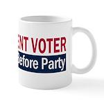 Independent Voter Red Blue Mug