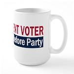 Independent Voter Red Blue Large Mug