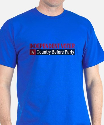 Independent Voter Red Blue T-Shirt