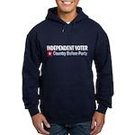 Independent Voter Red Blue Hoodie (dark)