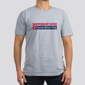 Independent Voter Red Blue Men's Fitted T-Shirt (d