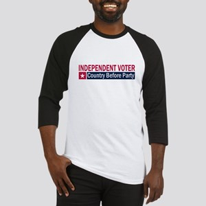 Independent Voter Red Blue Baseball Jersey