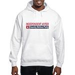 Independent Voter Red Blue Hooded Sweatshirt