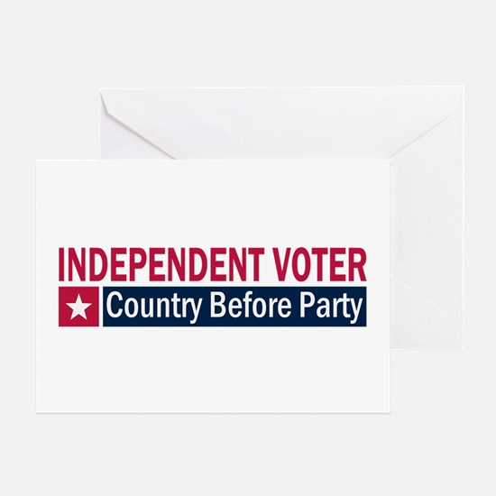 Independent Voter Red Blue Greeting Card