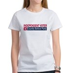 Independent Voter Red Blue Women's T-Shirt