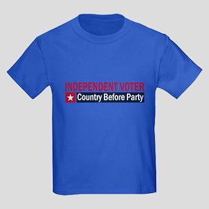Independent Voter Red Blue Kids Dark T-Shirt