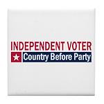 Independent Voter Red Blue Tile Coaster