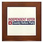Independent Voter Red Blue Framed Tile