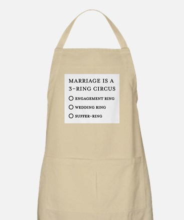 Marriage 3 Rings BBQ Apron