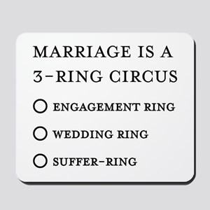 Marriage 3 Rings Mousepad