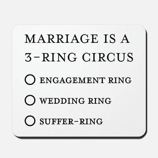 Marriage 3 Rings Mousepad