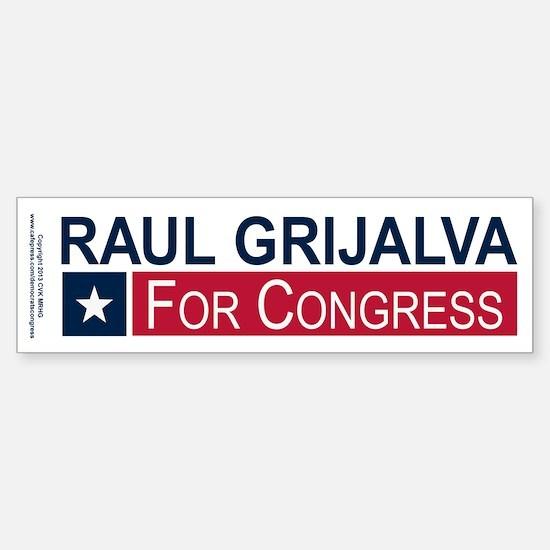 Elect Raul Grijalva Sticker (Bumper)