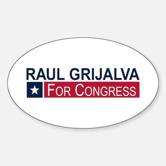 Elect Raul Grijalva Sticker (Oval)