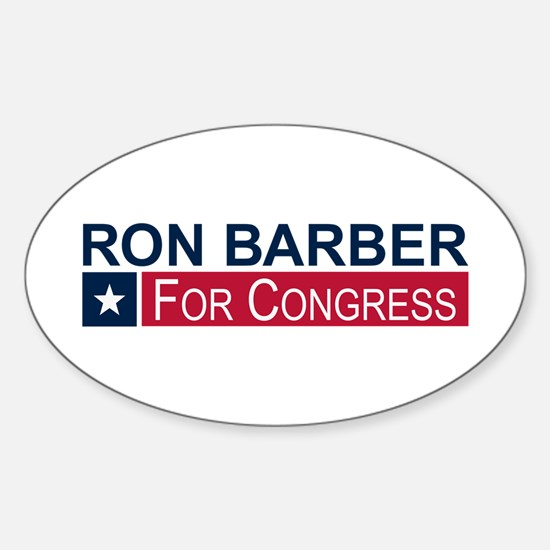 Elect Ron Barber Sticker (Oval)